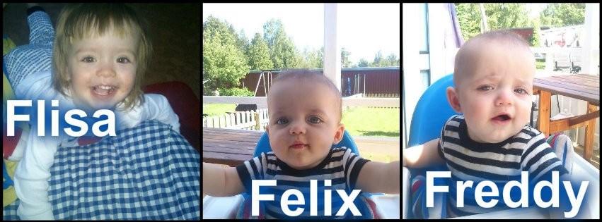 Felicia & tvillingkillarna Felix & Freddy